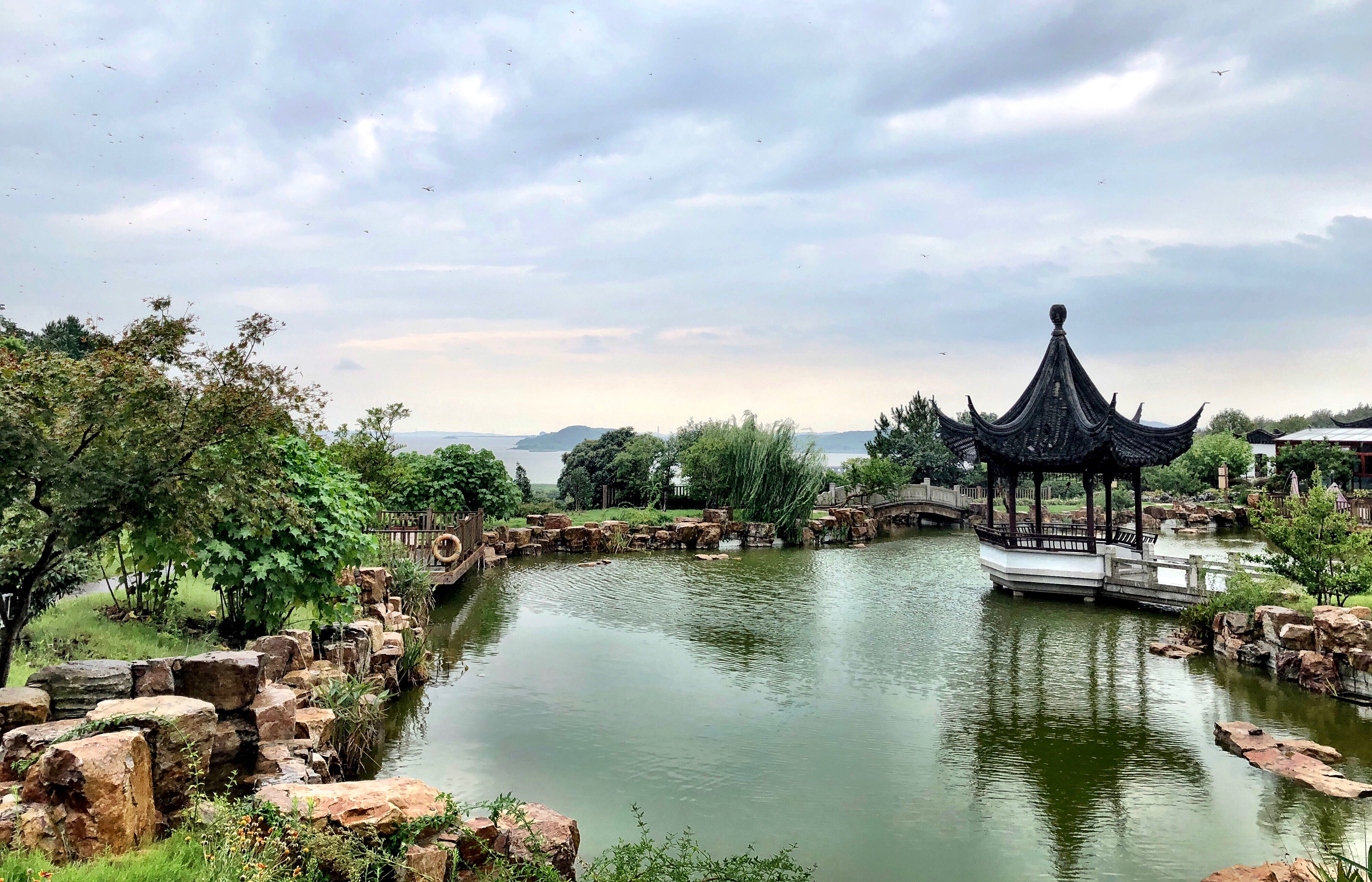 The photos shown is of gardens located in Suzhou China